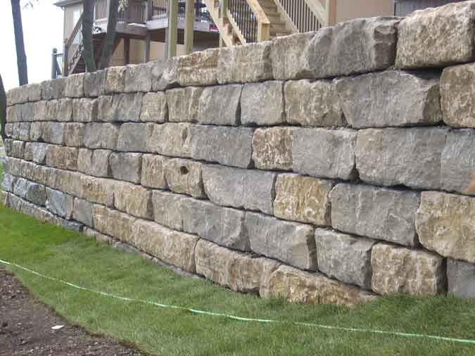 We are here for all your retaining wall needs - BIG OR SMALL!