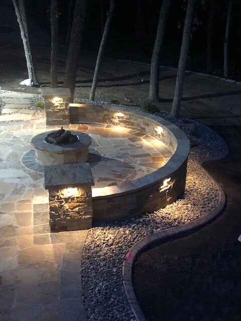 Outdoor lighting provides an illuminating experience for your outdoors.