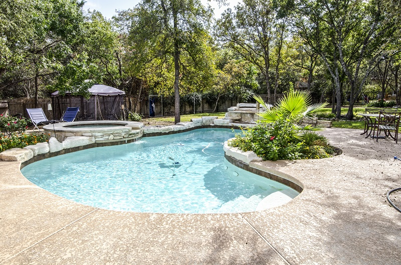 Swimming pool installation from Kohler Lawn & Outdoor puts a summer paradise right in your own backyard.