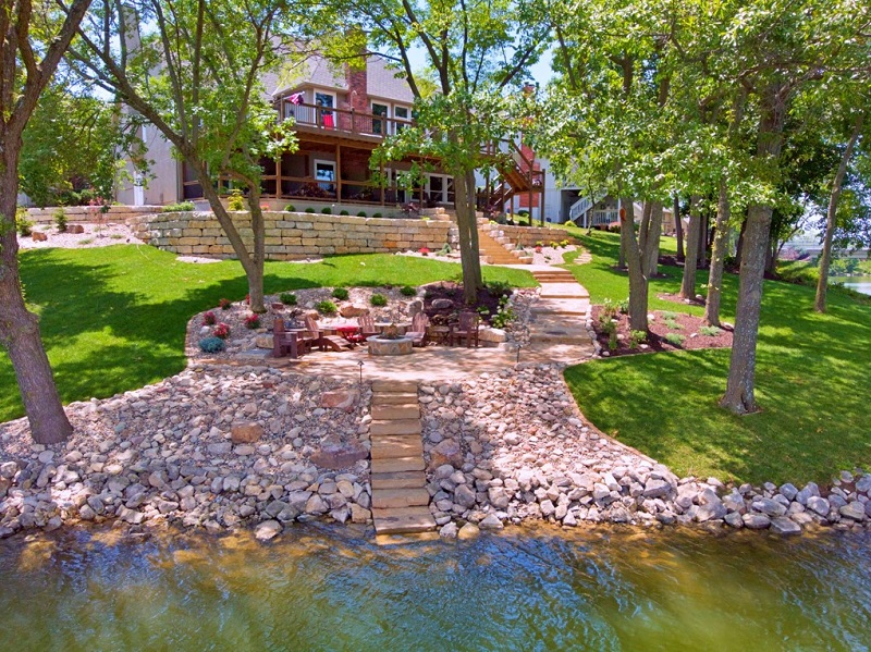 Designed Outdoor Living Space with Landscaping