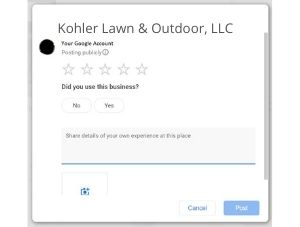 Do you recommend Kohler Lawn & Outdoor_ (1)