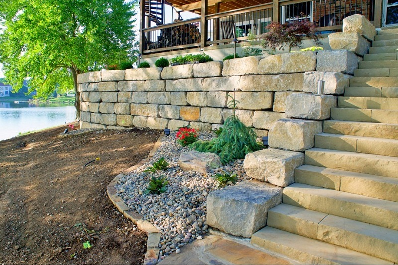 Structural Retaining Walls Help Create Usable Outdoor Space