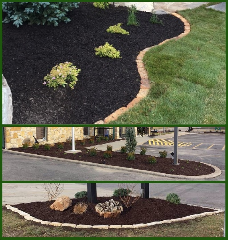 Landscaping with mulch adds beauty to your property.