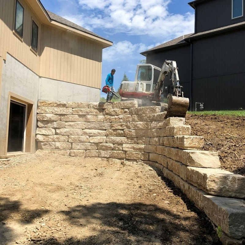 Retaining walls are easily installed by a landscape pro.
