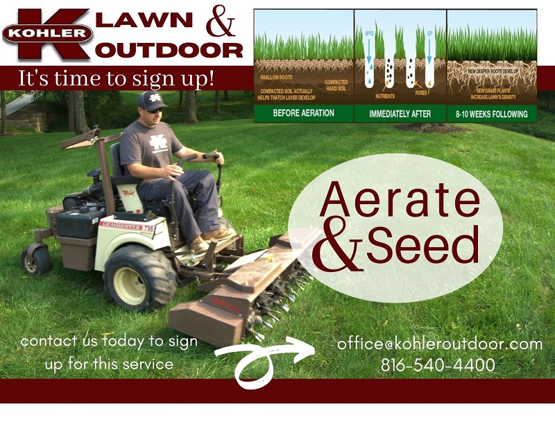 Turf Treatment In The Fall Should Include Aerating And Seeding.